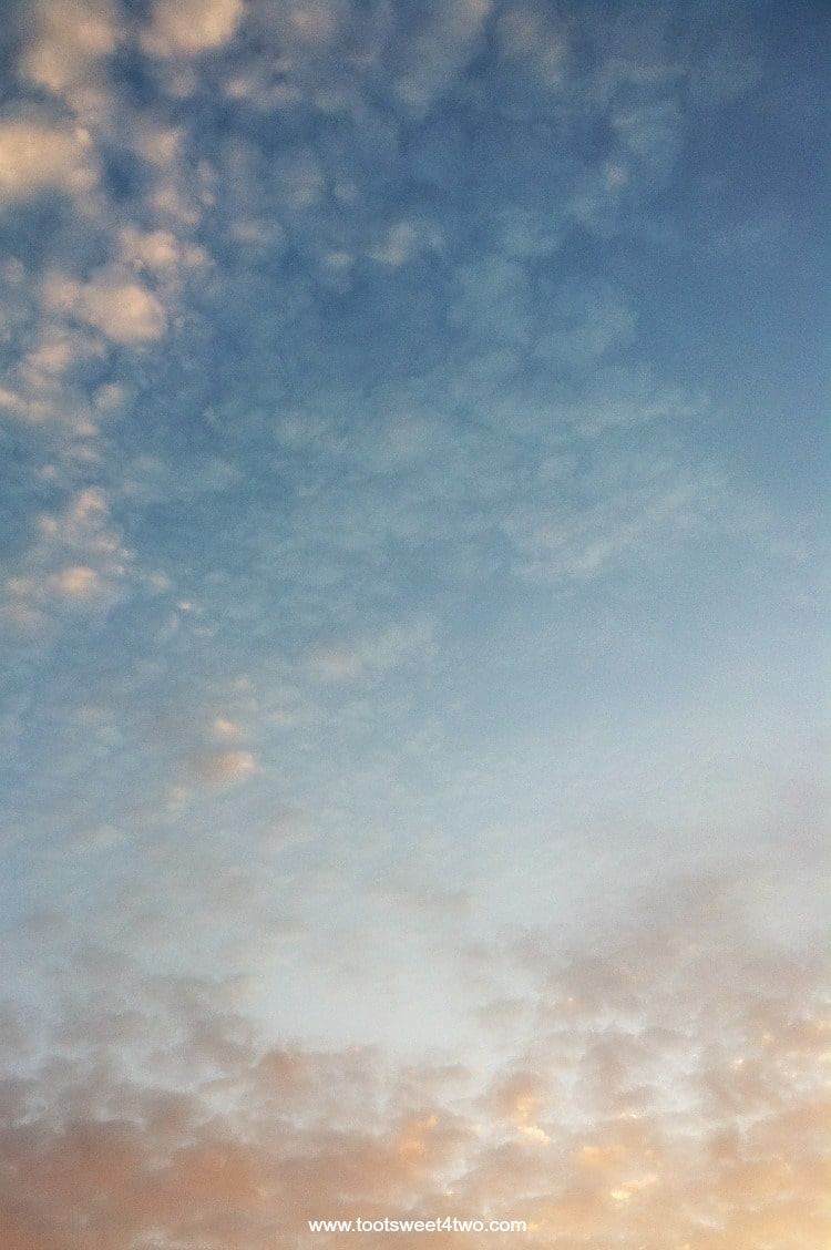 Blue sunset clouds - Both Sides of Clouds