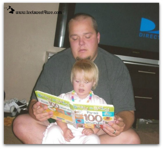Chris reading to Princess P - 2009