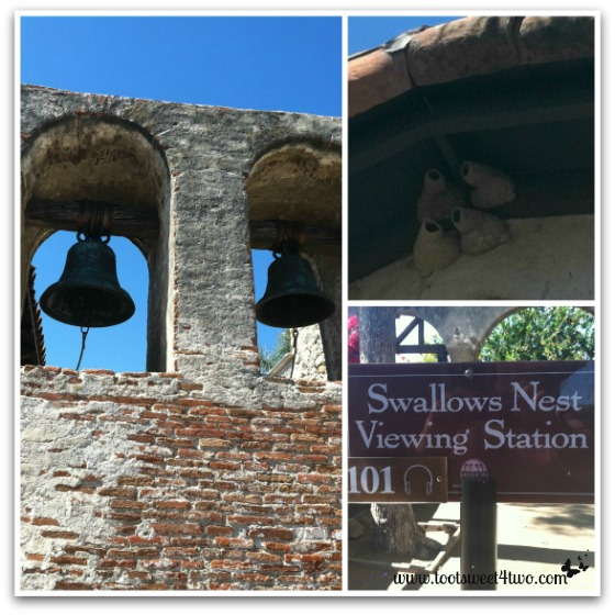Concrete swallows nests viewing station - Mission San Juan Capistrano