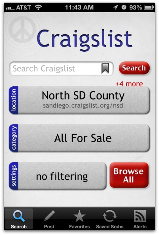 Craigslist iPhone app - The Accidental Picker