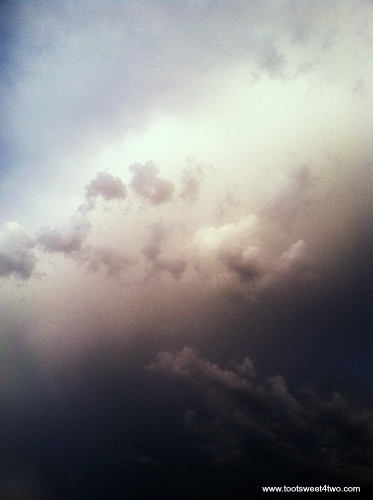 Dark cloudy sky - Both Sides of Clouds