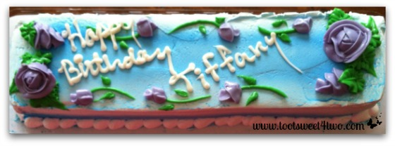 Happy Birthday cake for Tiffany