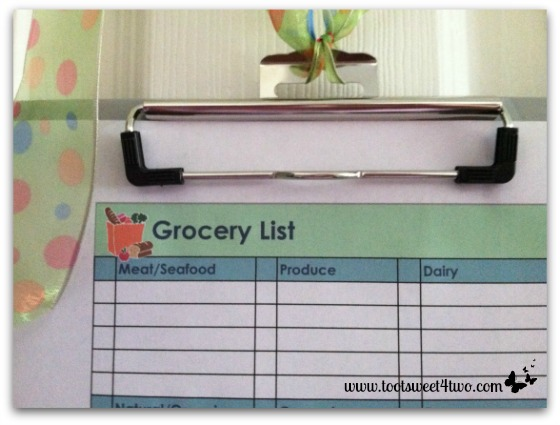 Meat, Seafood, Dairy - Grocery List Clipboard