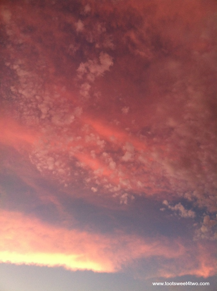 Peach sunset sky - Both Sides of Clouds
