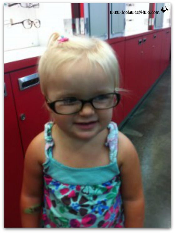 Princess Sweetie Pie trying on glasses - LASIK Gone Lame