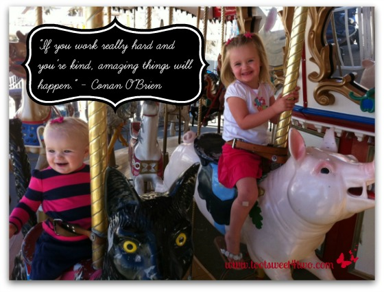 Princesses P on a carousel - Amazing Things