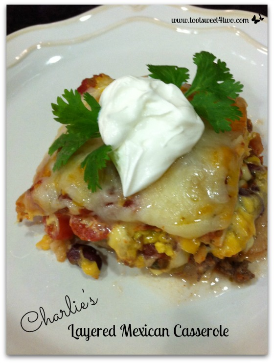Charlie's Layered Mexican Casserole Pinterest
