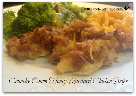 Crunchy Onion Honey Mustard Chicken Strips