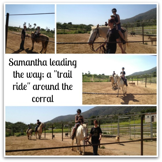 Samantha leading the trail ride.