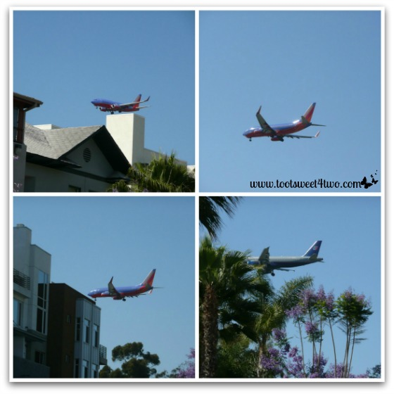 Airplanes flying over our building