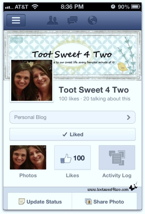 "We got 100 ""Likes"" on Facebook!"