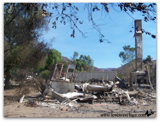 Twisted rubble - the remains of our home
