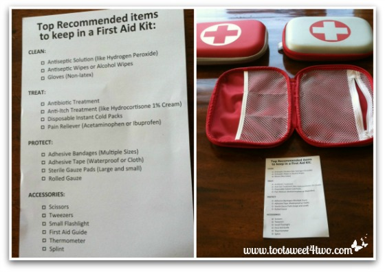 Attempting to fill the empty first aid kit bags