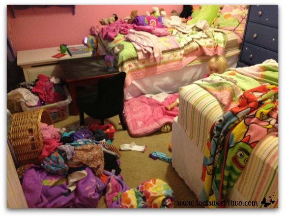 Girls Messy Room Toot Sweet  Two