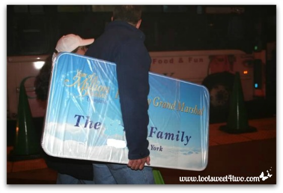 Going home with Disneyland signs in hand