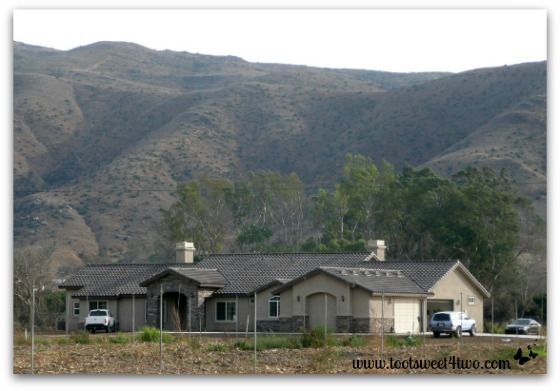Our finished house - no landscape, but beautiful indeed, perfectly sited on our property!