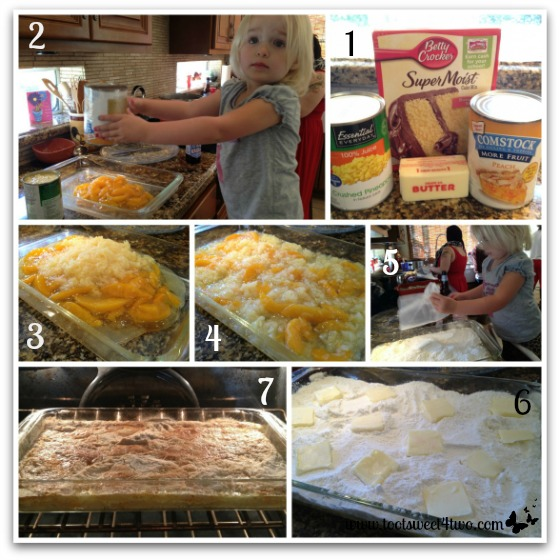 Peach Pineapple Dump Cake tutorial