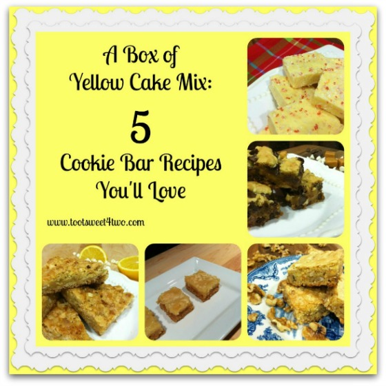 A Box of Yellow Cake Mix - 5 Cookie Bar Recipes You'll Love