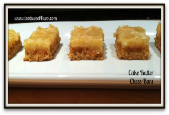 Chess square recipe without cake mix