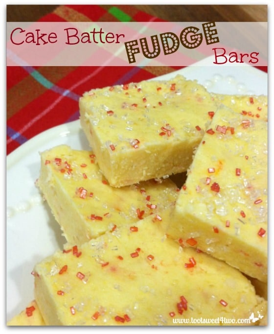 Cake Batter Fudge Bars Pinterest