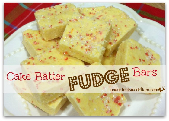 Cake Batter Fudge Bars cover