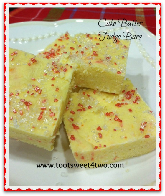 Cake Batter Fudge Bars