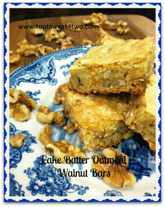 Cake Batter Oatmeal Walnut Bars Pinterest