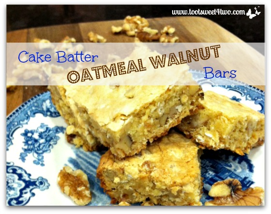Cake Batter Oatmeal Walnut Bars cover
