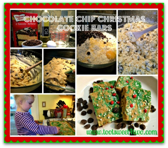 Christmas Chocolate Chip Cookie Bars collage