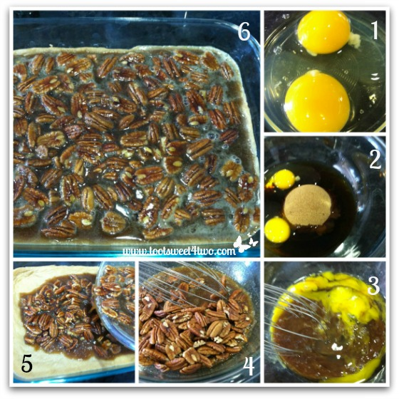 Making the topping for Salted Maple Pecan Pie Bars