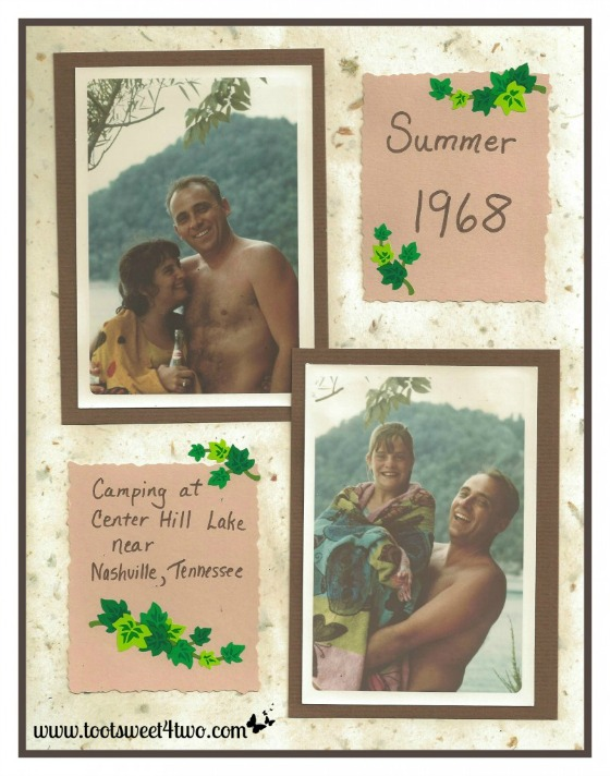 Camping - scrapbook pages - The Family Man