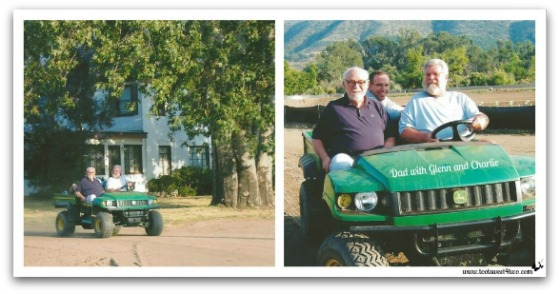 Charlie and Dad in the Gator - Sons of My Father