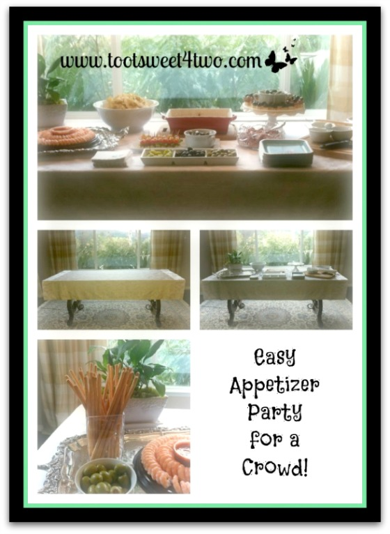 Easy Appetizer Party for a Crowd set-up