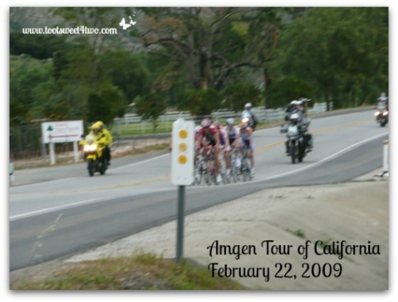 Amgen Tour of California - first cyclists