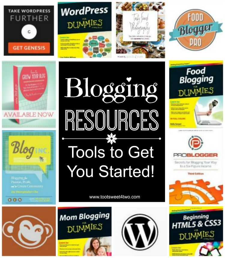 Blogging Resources cover collage