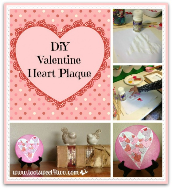 DIY Valentine Heart Plaque collage