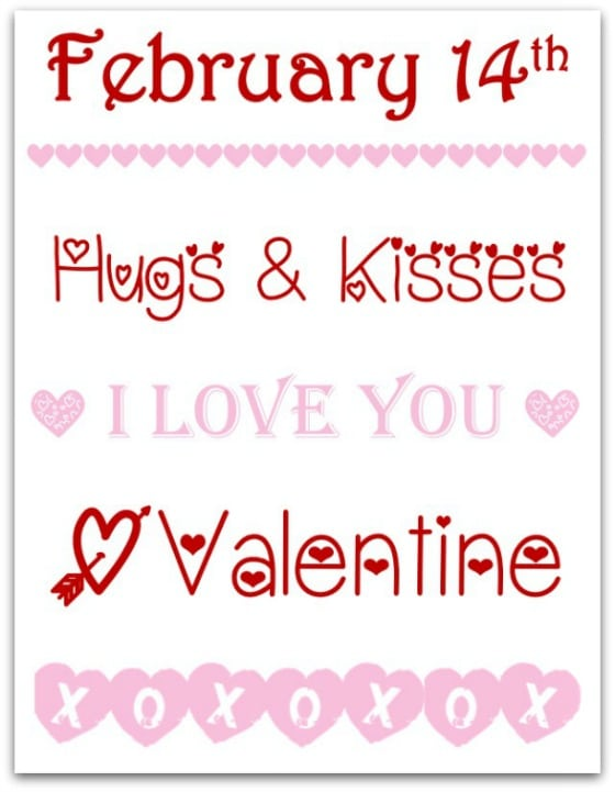 DIY Valentine printable