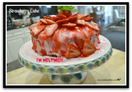 Melting Strawberry Cake