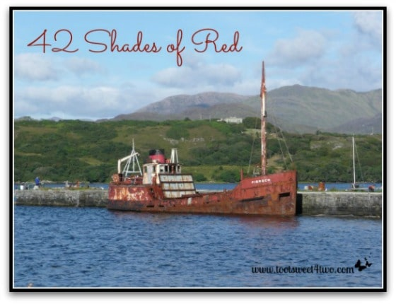 Rusty derelict boat in Ireland - 42 Shades of Red