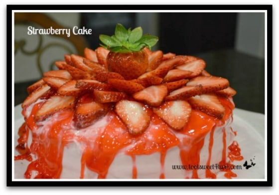 Strawberry Cake top