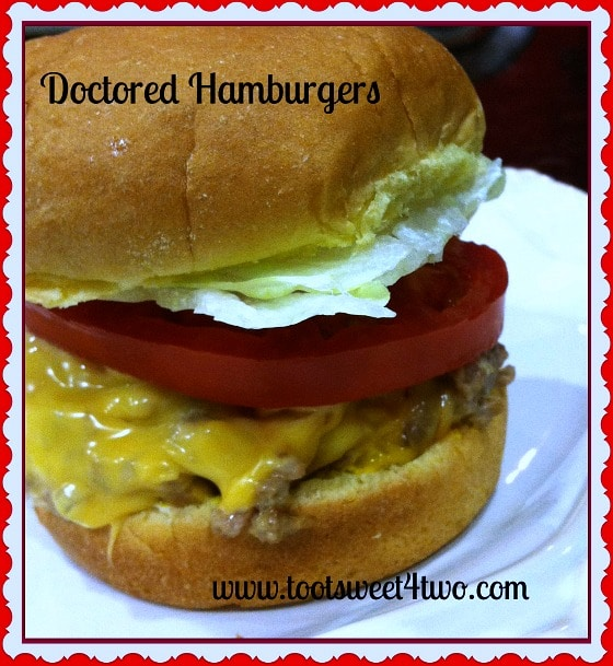 Doctored Hamburger with lettuce and tomato