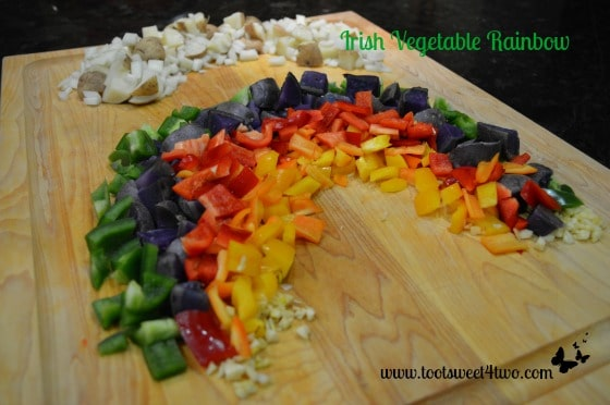 Irish Rainbow Country Potatoes chopped