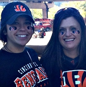 The first time I met my pen pal, Bengals game September 2012