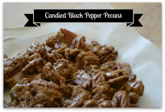 Candied Black Pepper Pecans