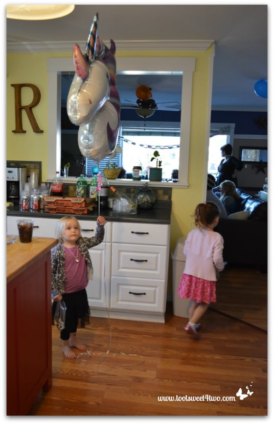 Princess Sweetie Pie with a unicorn balloon