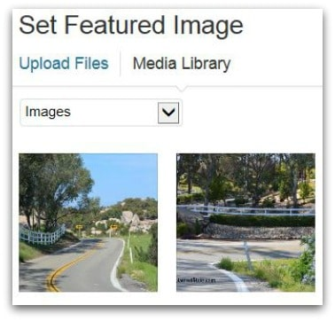 Select Featured Image