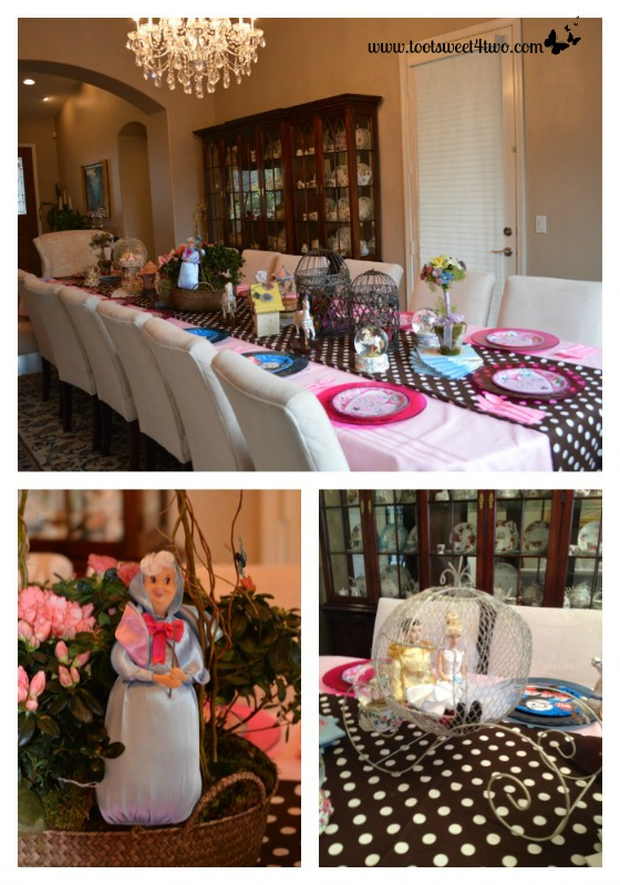 Setting the table for the Princess Palooza Party