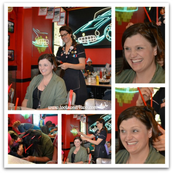 Tiffany's Straw Hair-do at the Corvette Diner
