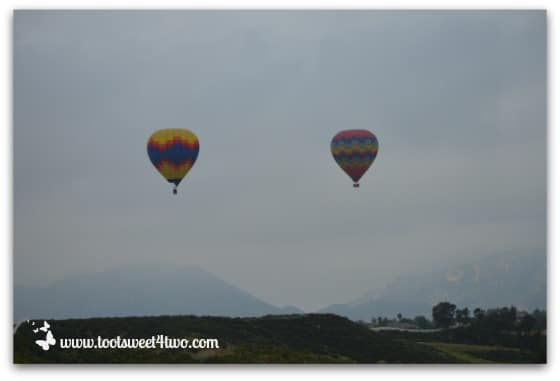 2 Hot Air Balloons ascending