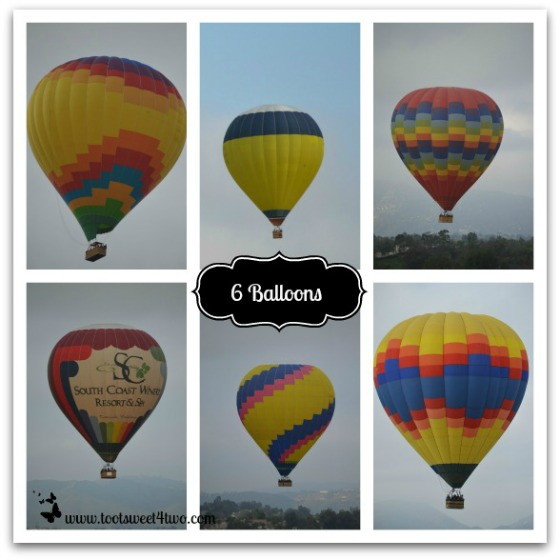 6 Hot Air Balloons